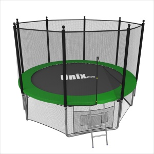Спортивный батут UNIX line 8 ft outside green