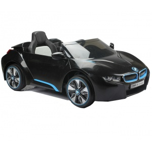 Электромобиль Farfello BMW i8 Ride-On JE168 (лицензия, 12V) (черный пластик)